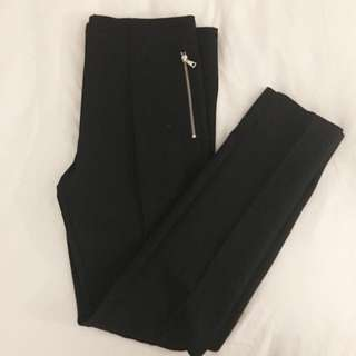 Black Zara Pleated Trousers