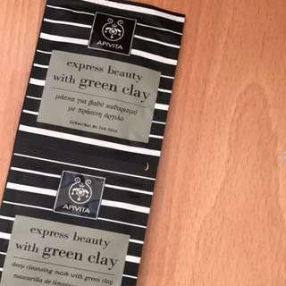 apivita green clay mask 購自專櫃$25/pcs