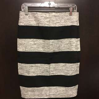 Black/grey Pencil Skirt (Medium, New With Tag)