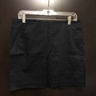 Gap Navy/Black Print Skirt (Size 8, New With Tag)