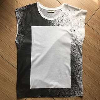 Balenciaga Spray -Print  Cotton Tank Top