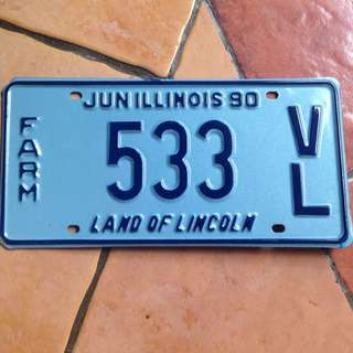 Plat Nomer USA Original (Illinois)
