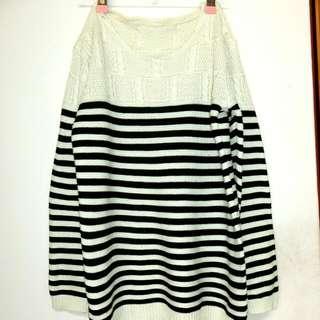 條紋  針織毛衣
