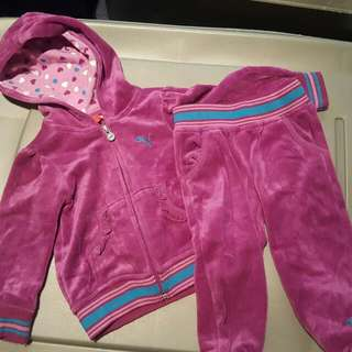 Baby velvet track suit