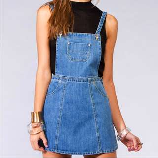 Princess Polly Denim Pinafore Overall
