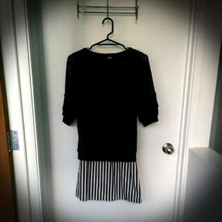 Black And White Dress (worn once) - Small