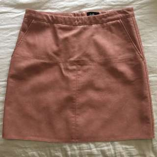 Dotti Pink Leather Skirt