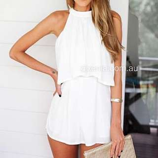 Xenia I Wish I Would White Playsuit