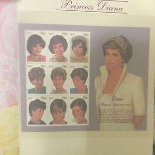 珍藏版「黛妃」紀念郵票stamp