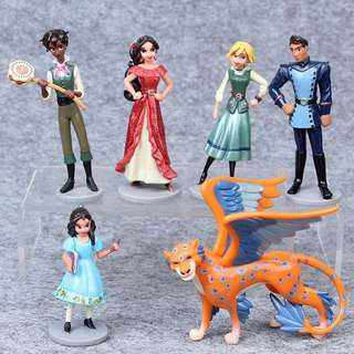 Elena of Avalor Figurines / Cake Toppers (6 Pcs A Set)