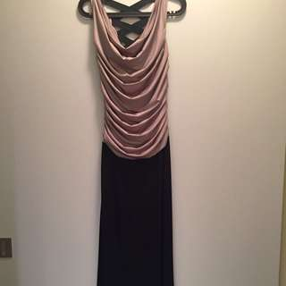 Gold&black Long Dress