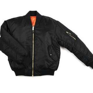 MA 1 Black Flight Jacket 軍褸 黑色 M Size