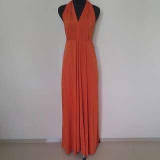 Halter Dress Orange
