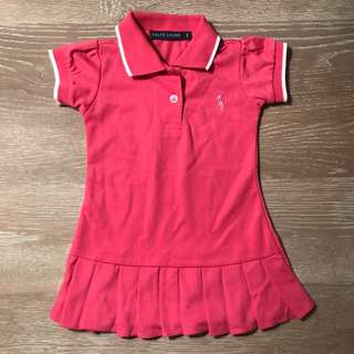 Ralph Lauren pleated pink polo dress