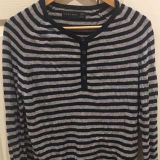 ZARA MAN Striped Jumper, Size Small