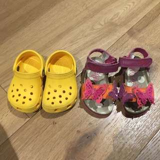 2 X Size 3 Girls Shoes