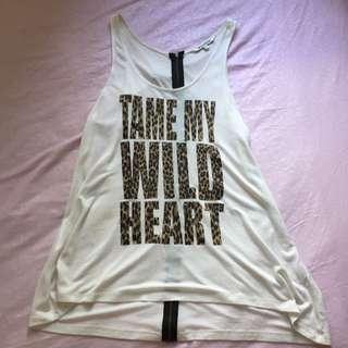 Colorbox Tame My Wild Heart Zipper Tanktop