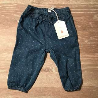2x Country Road Spot Denim Pant 6-12 Months