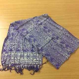 Batik Print Scarf (purple)