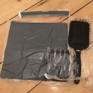 Hair Care Pack - Heat Mat, Comb, Brush And Clips