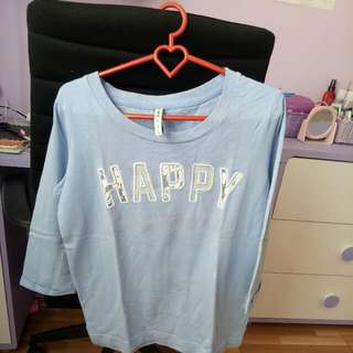 Stradivarius Happy Long Tee