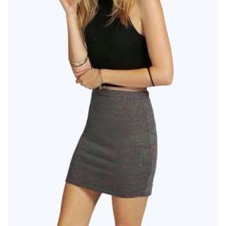 Mini Skirt In Charcoal