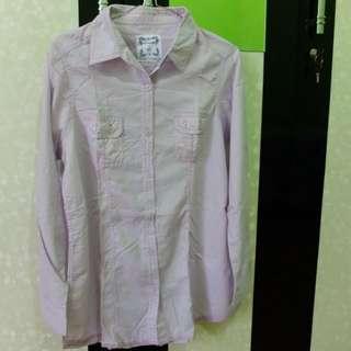Kemeja Soft Purple Pastel (Size L) 1X Pakai