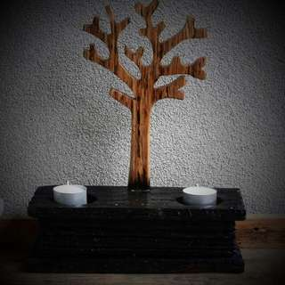 Rustic Tree Of Life Candle Holder