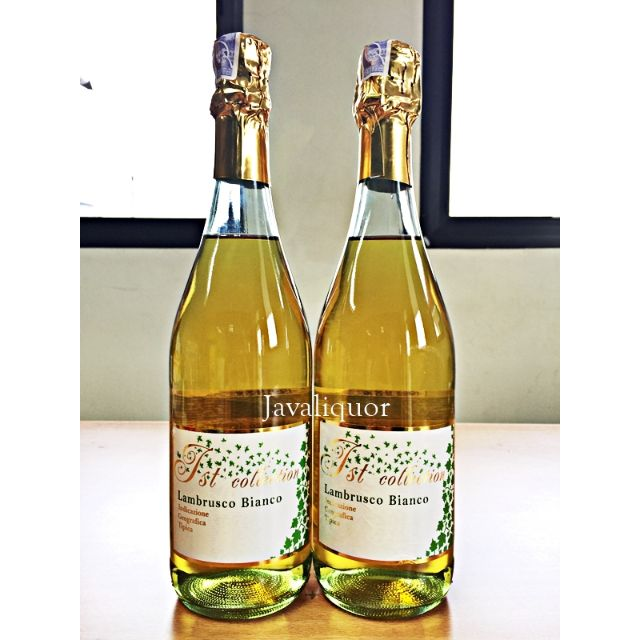 1st Collection Lambrusco Bianco Sparkling Sweet White Wine ORIGINAL 100%