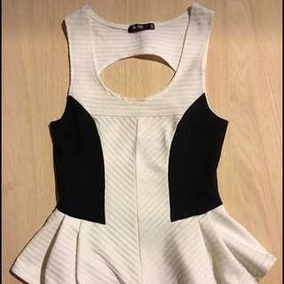 Black & White Dressy Top