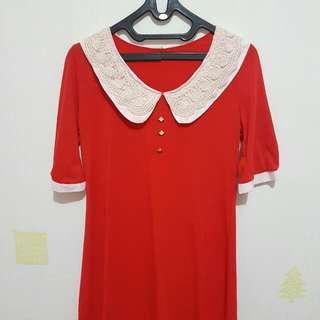 Viona Red Dress