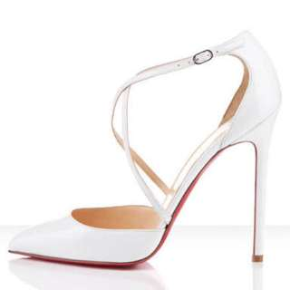 White Cross Heels