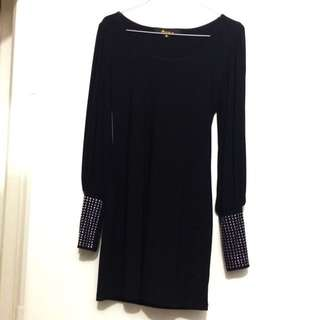PEOPLE ARE PEOPLE Black Party Dress From