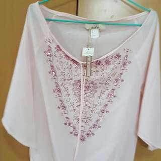 CNY Party PINK BLOUSE