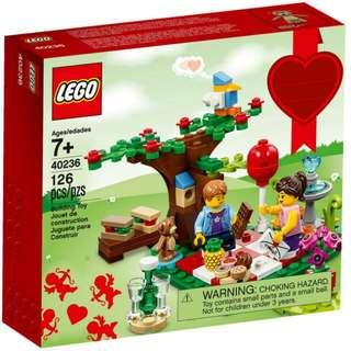 Lego Exclusive 40236 Romantic Valentine Picnic