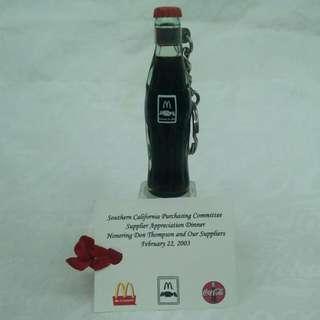 Coca-cola麥當勞可口可樂攜手合作迷你紀念瓶