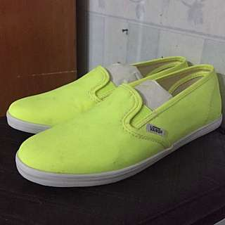 Original VANS Neon Yellow Lo Pro Slip On