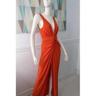 Orange Grandeur Twist Dress