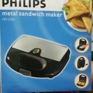 Brand New Philips Metal Sandwich Maker