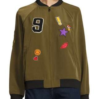 Green Bomber w/ Patches