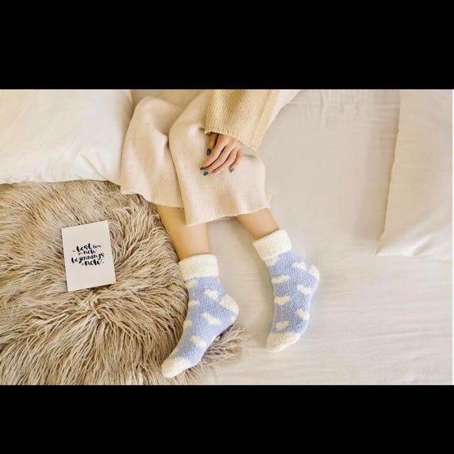 愛心毛毛襪