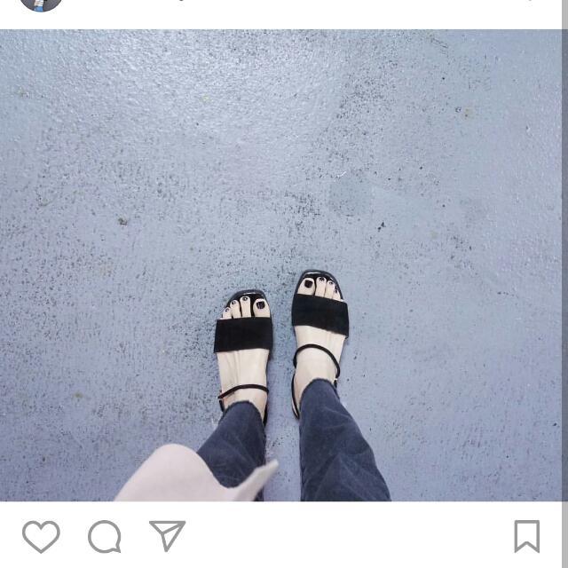 黑色簡約涼拖鞋