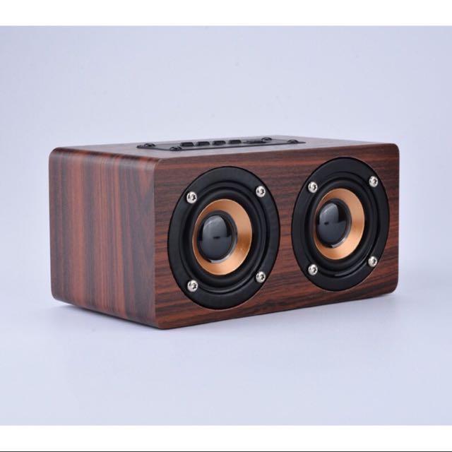 木質無線雙喇叭藍牙音箱🎵🎶