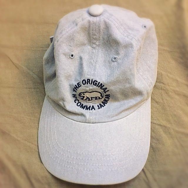復古北極熊牛仔布老帽