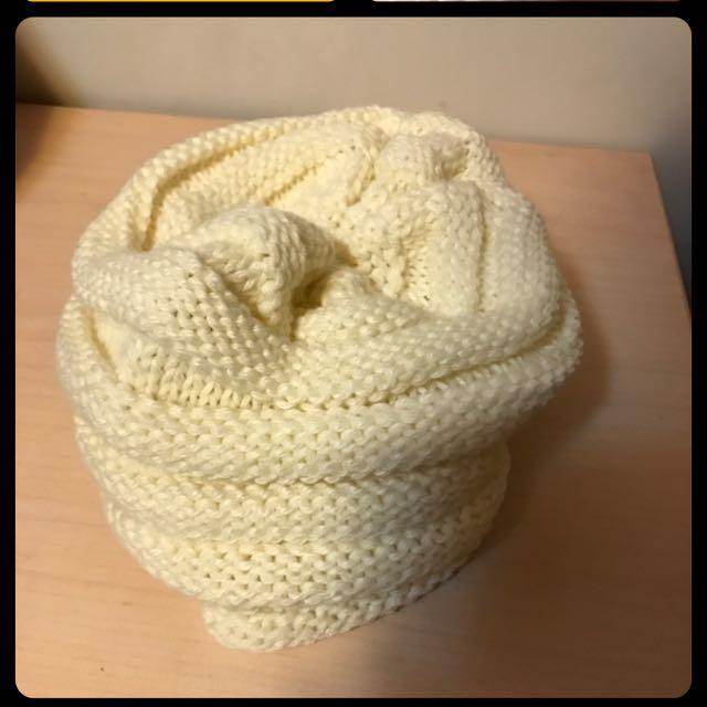韓版米色毛帽