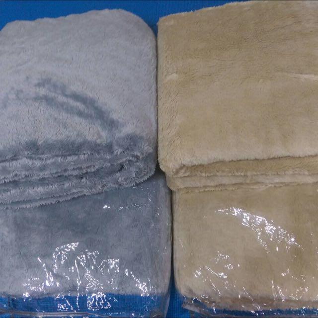 雙人長毛絨抗菌透氣毛毯