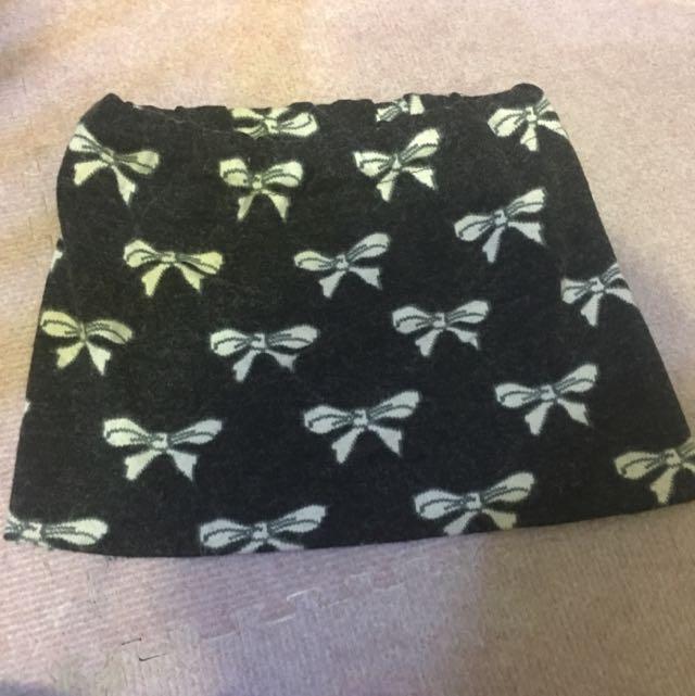 蝴蝶結毛裙