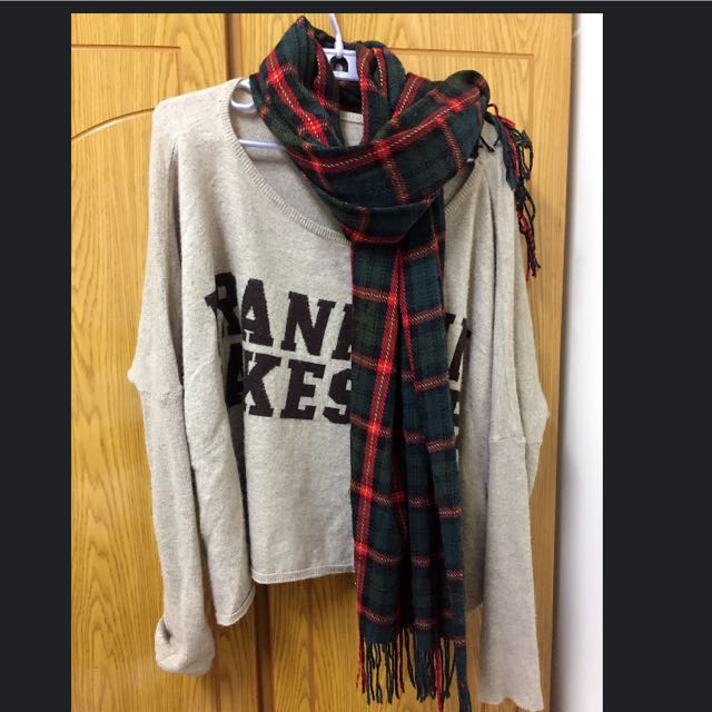 英文字母寬鬆毛衣