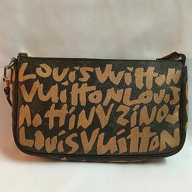 79b7d8f94dc8 💯% Authentic Louis Vuitton Stephen Sprouse Pouch Pochette Graffiti ...
