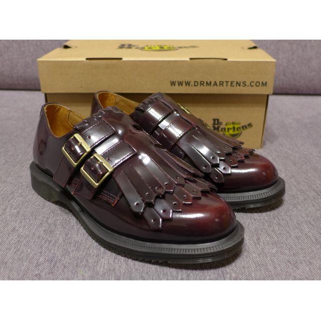 【現貨】新品 Dr. Martens Ellaria Arcadia Monk 馬汀 雙扣環 流蘇孟克鞋 酒紅 AW16